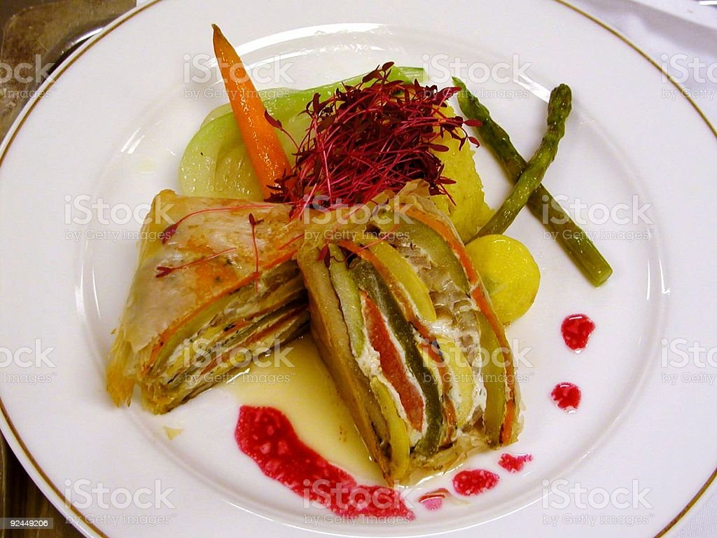 Vegetarian Velington royalty-free stock photo