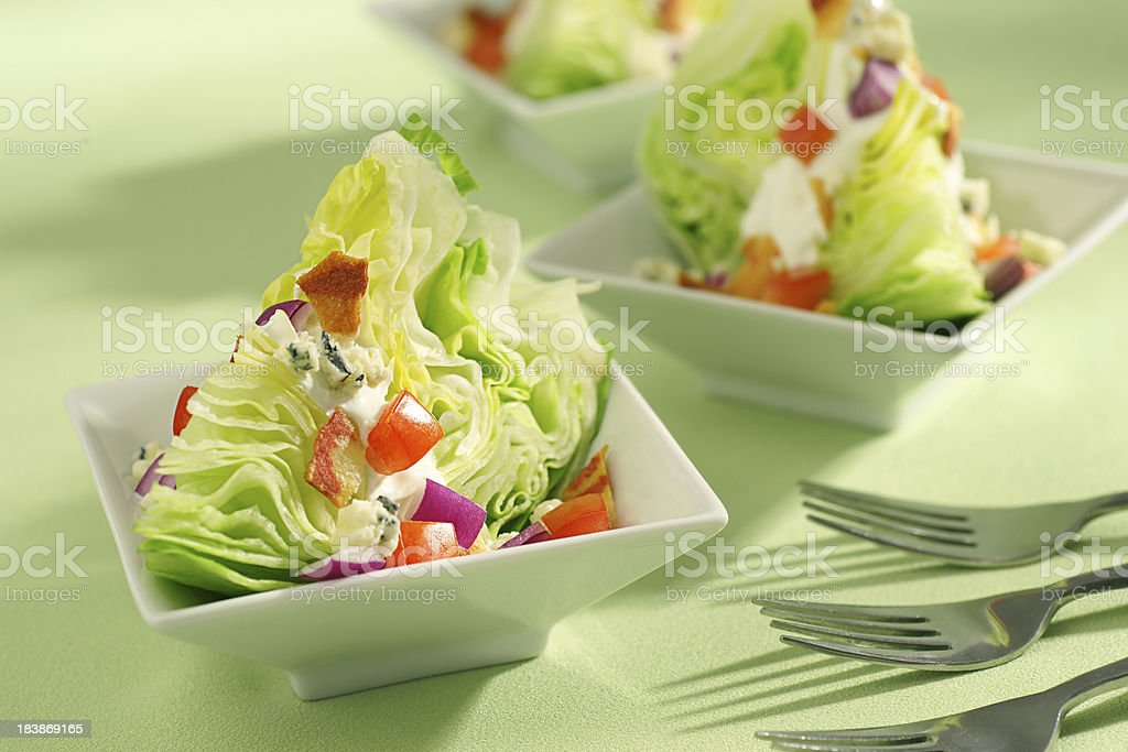 Vegetarian Wedge Salad stock photo