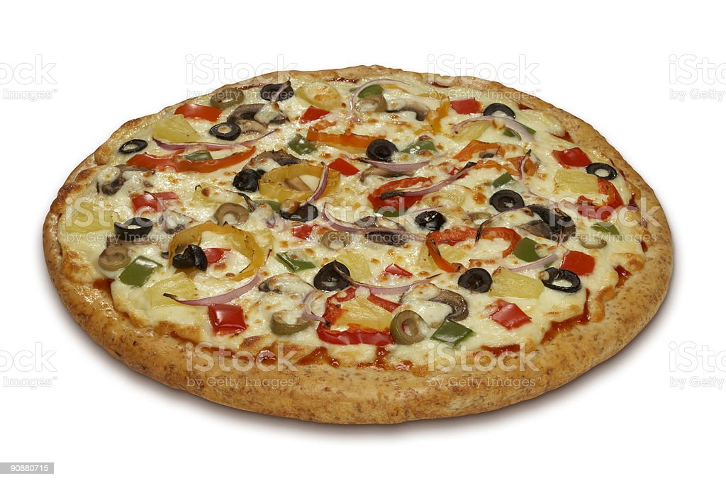 Vegetarian Whole Wheat Pizza royalty-free stock photo