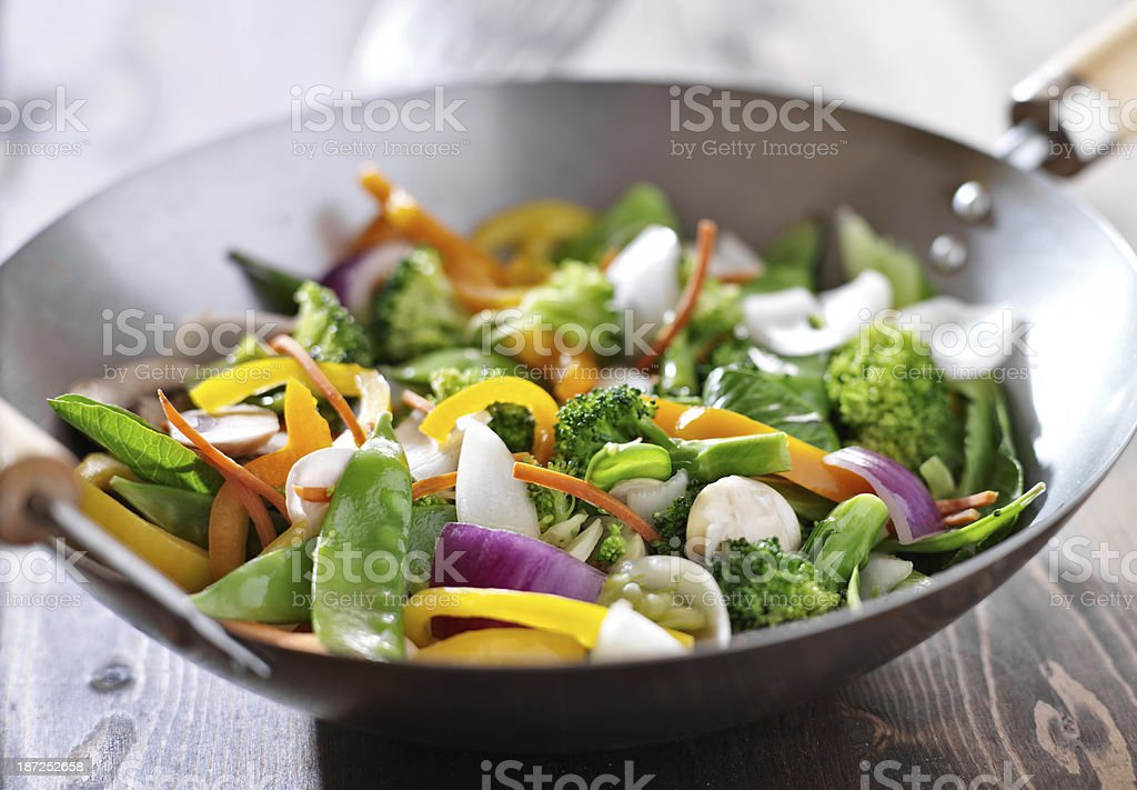vegetarian wok stir fry stock photo