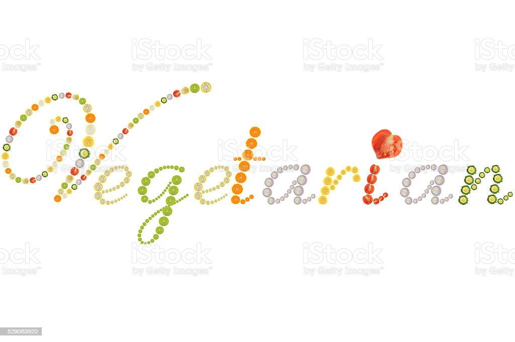 Vegetarian word stock photo