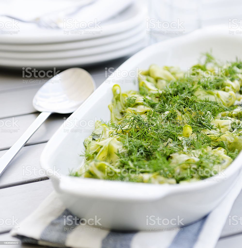 Vegetarian  zucchini food royalty-free stock photo