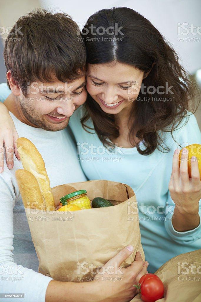 Vegetarians royalty-free stock photo
