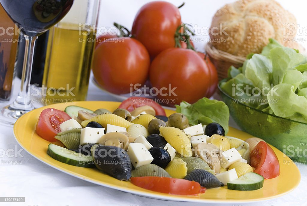 Vegetarian-Vegetable- mixed Summer Salad 5 stock photo