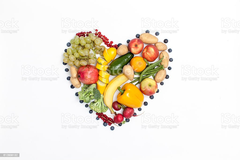 Vegetarisches Herz stock photo