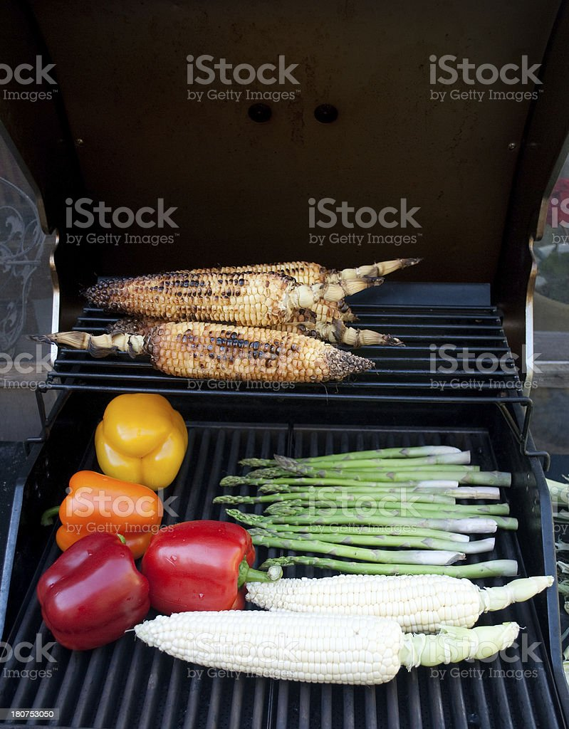 Vegeterian BBQ royalty-free stock photo