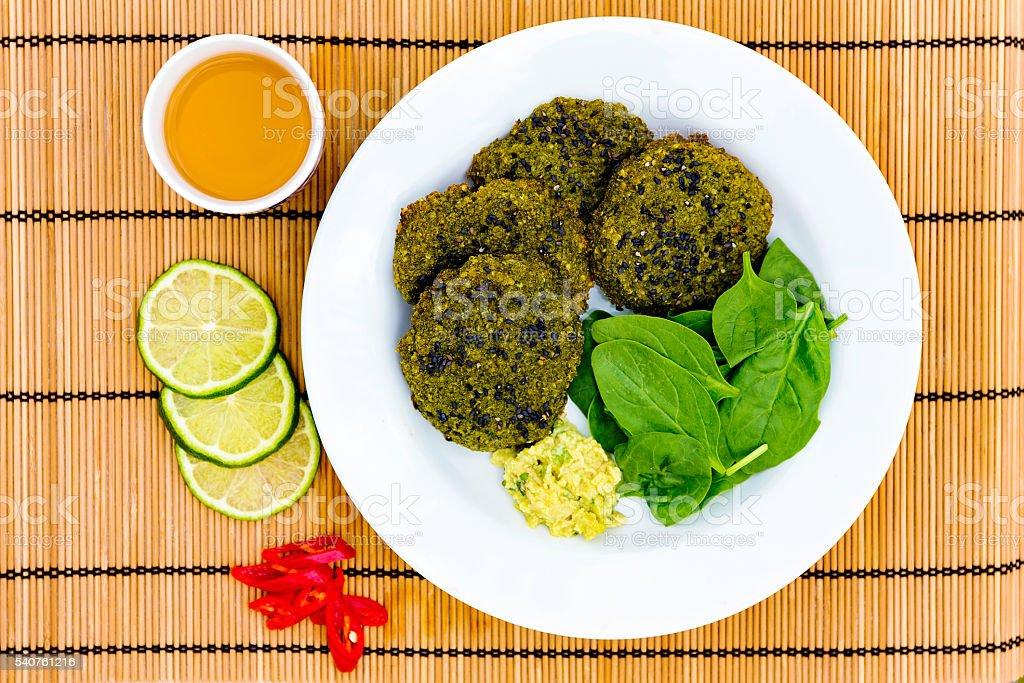 Vegeterian burgers stock photo