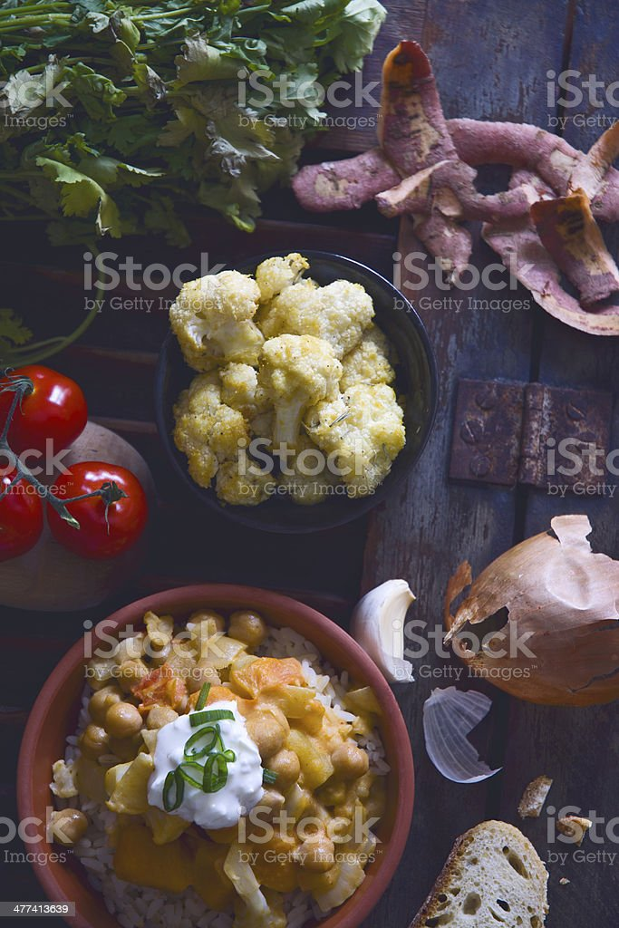 Vegeterian Curry stock photo