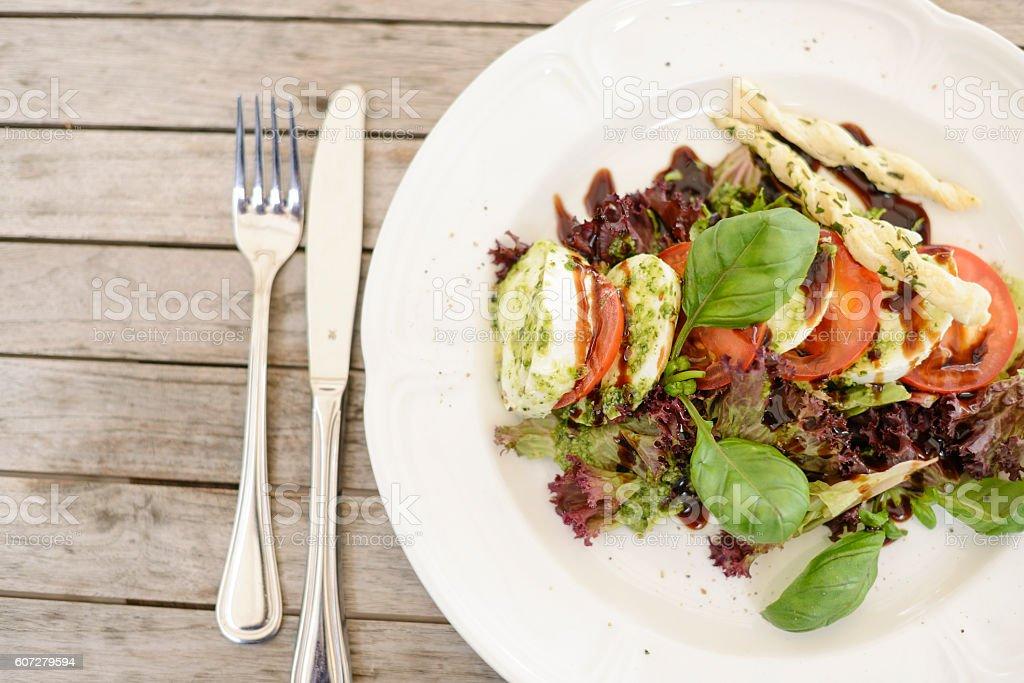 Vegeterian food, food, food photography, mozzarella salat, salat stock photo