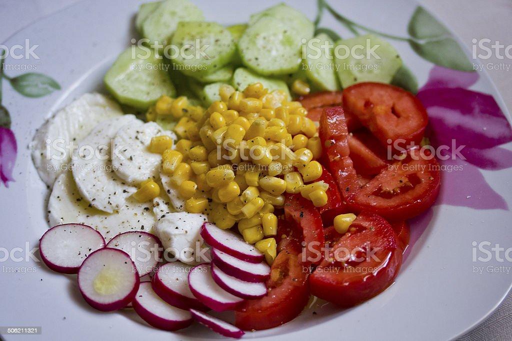 Vegeterian Fresh salad. royalty-free stock photo