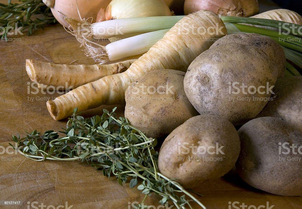 Vegeterian stew ingredients royalty-free stock photo