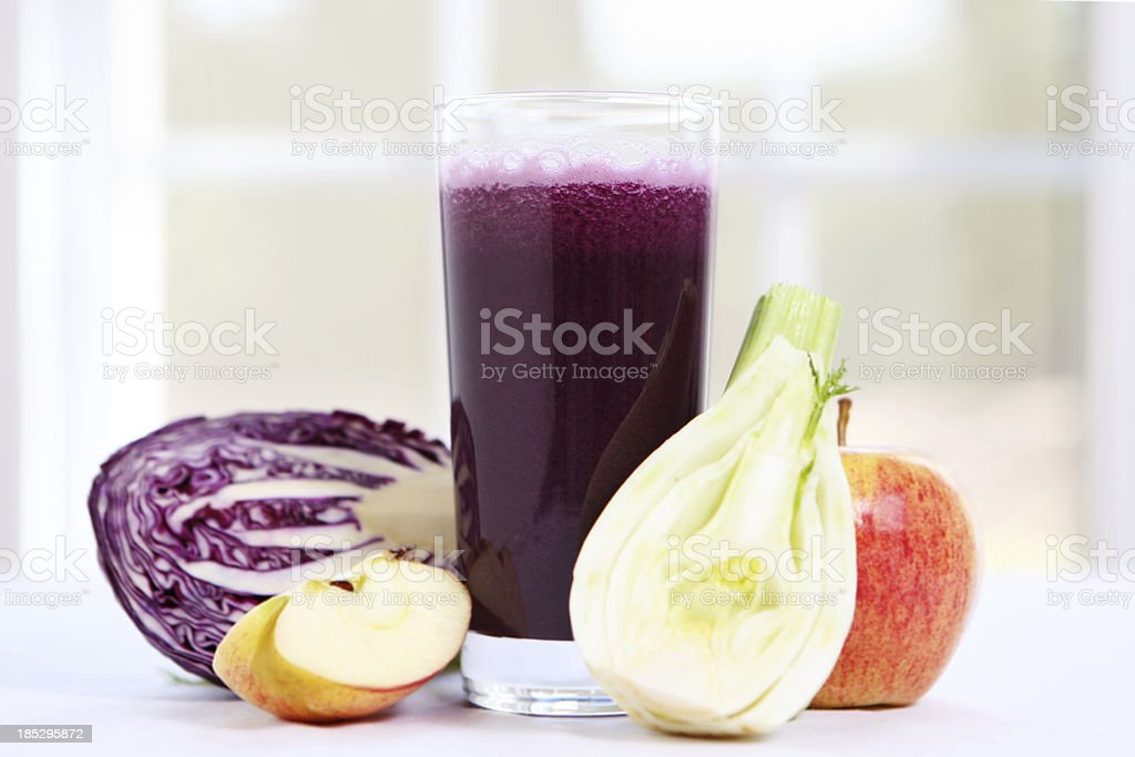 Veggie and fruit juice royalty-free stock photo