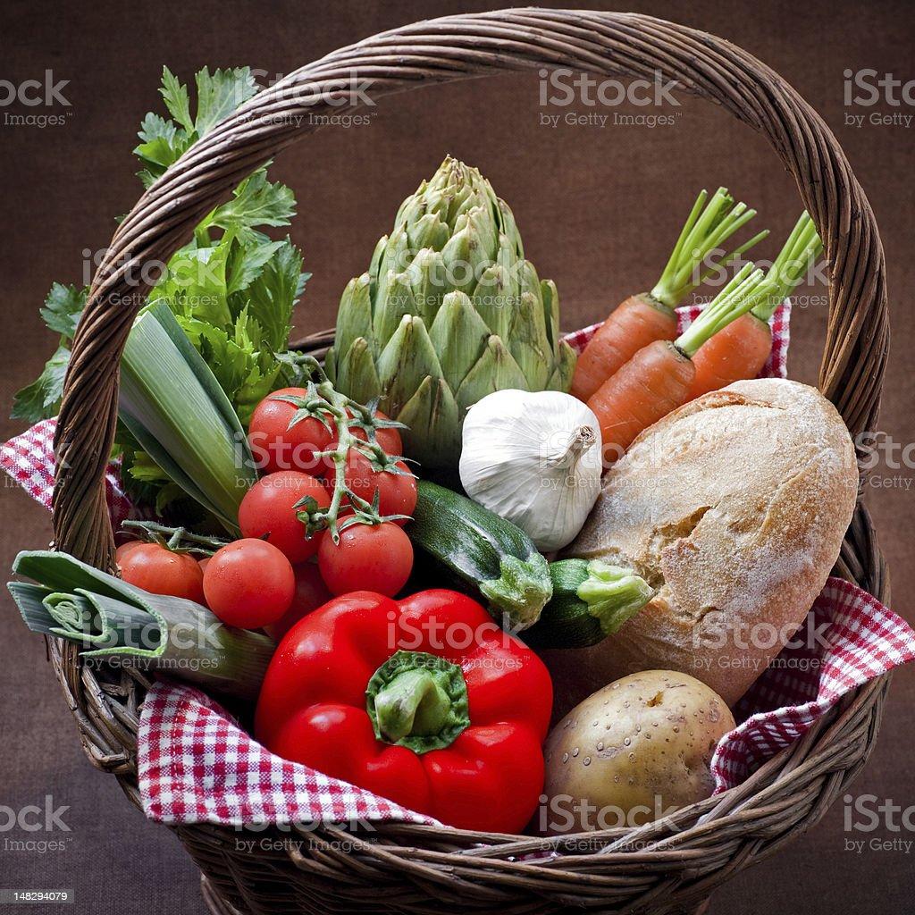 Veggie Basket royalty-free stock photo