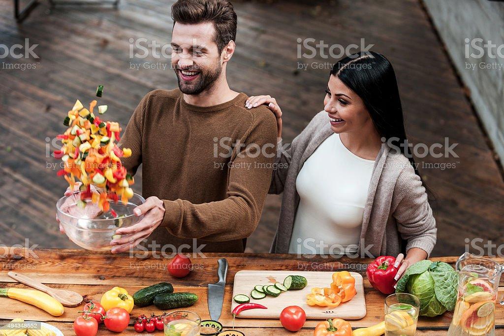 Veggie magic. stock photo