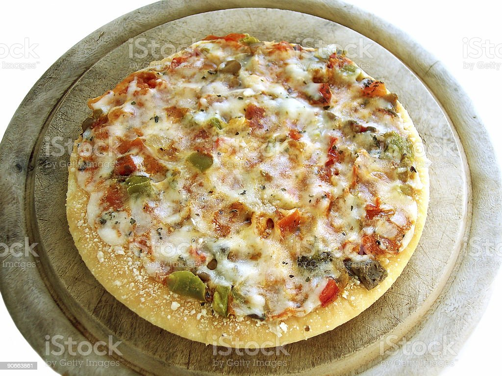 6' veggie pizza 1 (path included) royalty-free stock photo