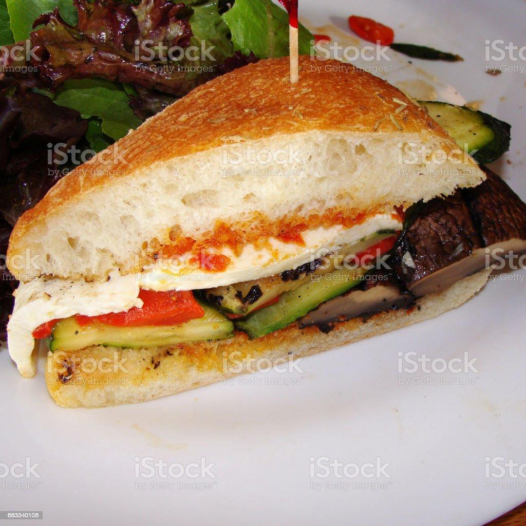 Veggie sandwich stock photo