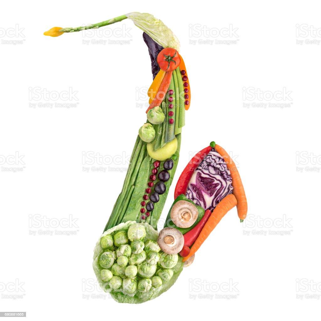 Veggie sax. stock photo