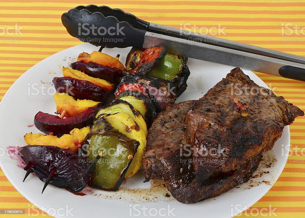 Veggie Shish Kabob royalty-free stock photo