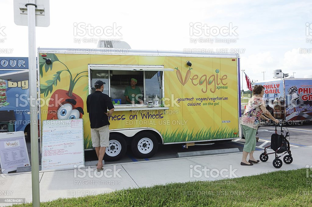 Veggie Xpress Food Truck royalty-free stock photo