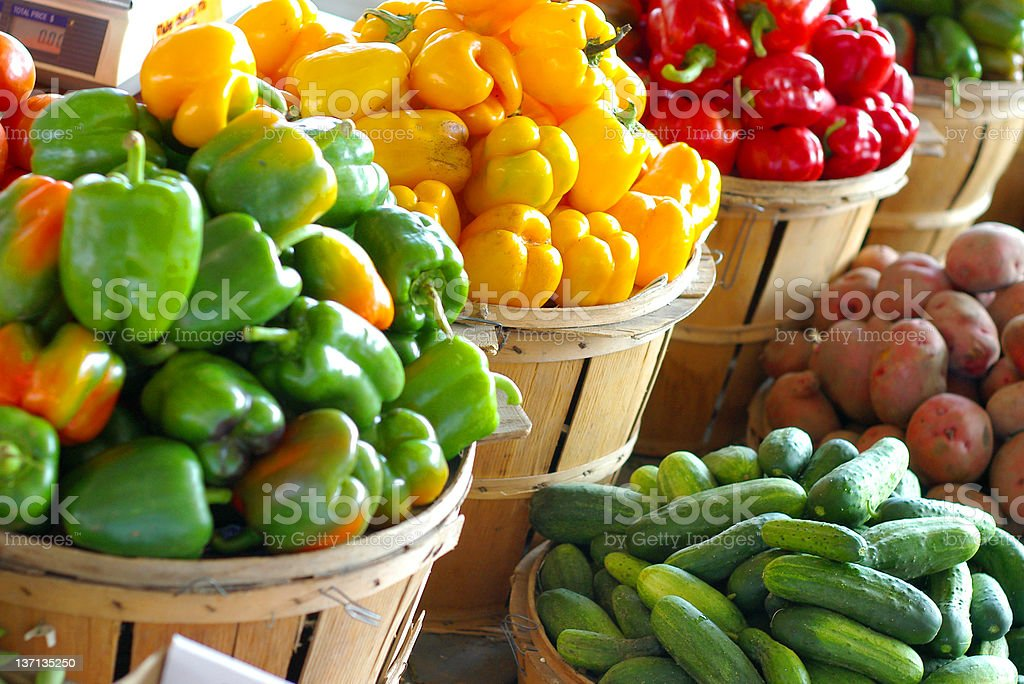 Veggies for sale royalty-free stock photo