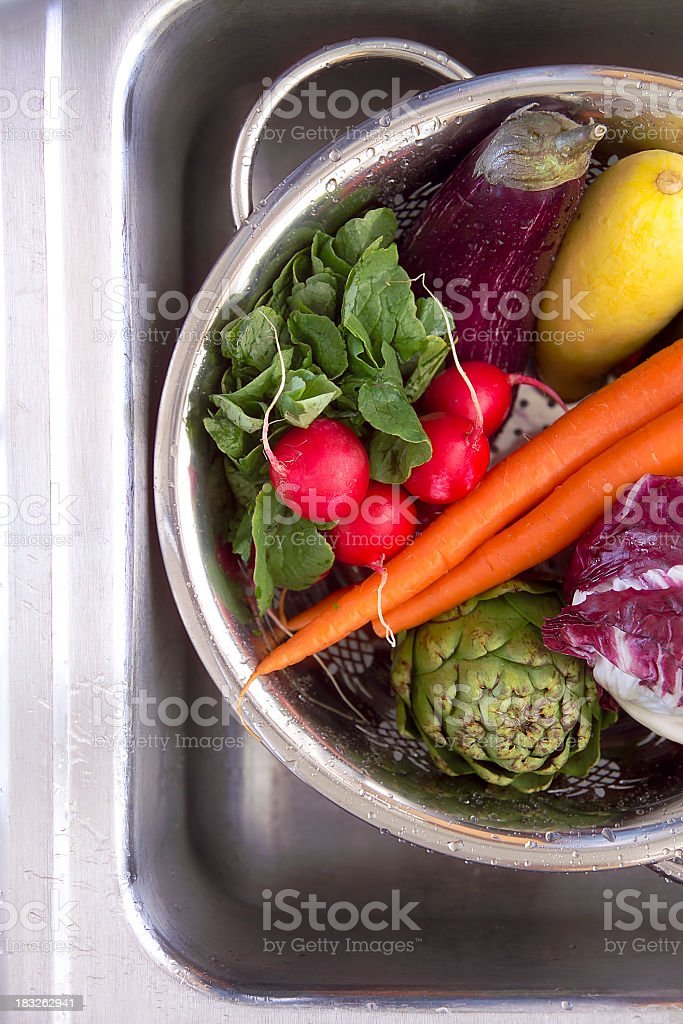 veggies in the sink royalty-free stock photo
