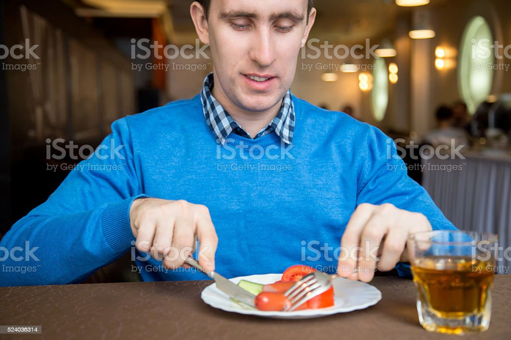 Veggies with Sausage for Breakfast stock photo