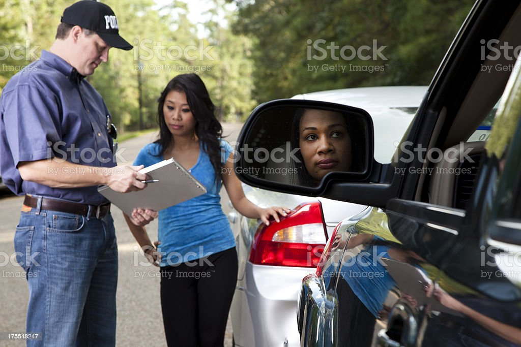Vehicle accident royalty-free stock photo