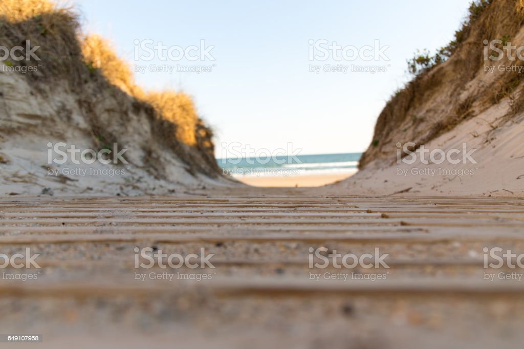 Vehicle Beach Access stock photo