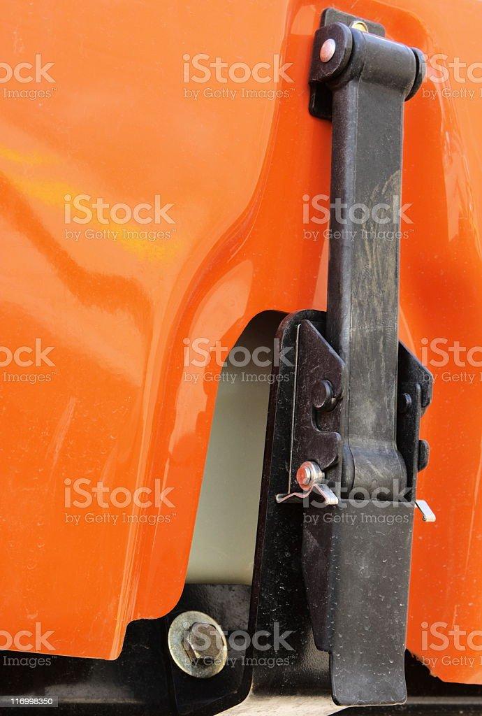 Vehicle Bodywork Industrial Hatch Latch stock photo