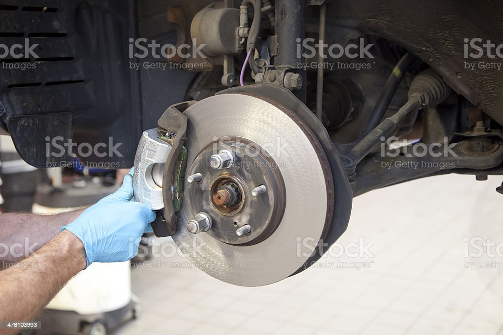 Vehicle Brake Caliper Service stock photo