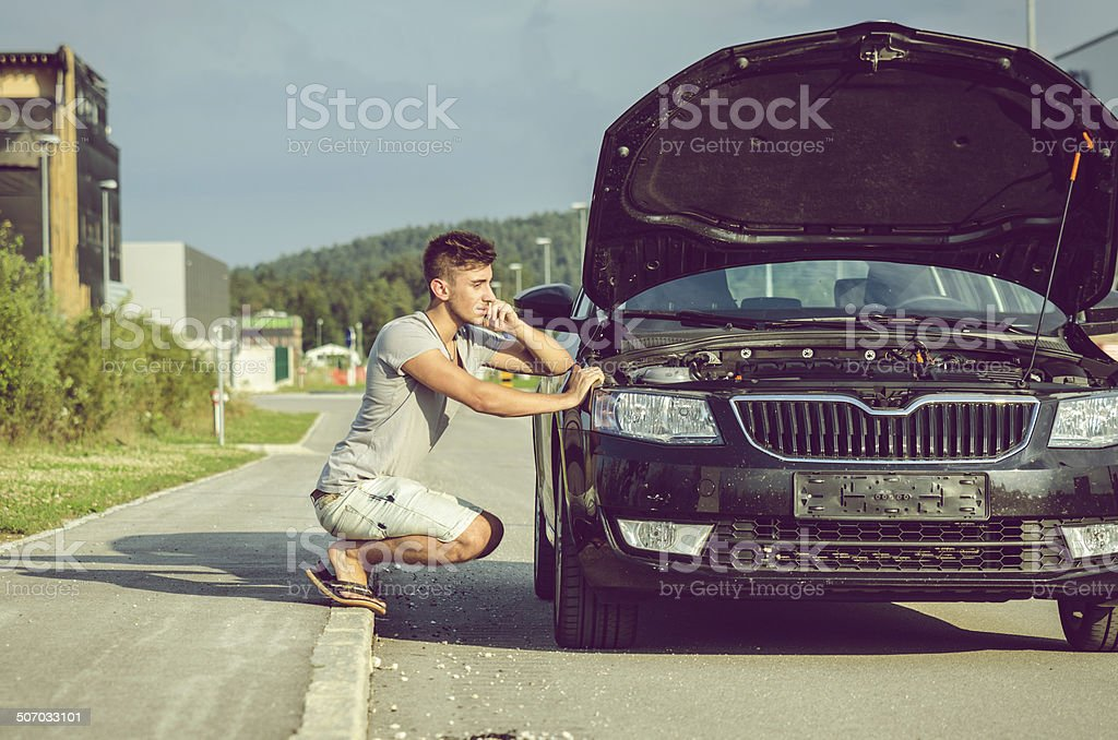 Vehicle Breakdown stock photo