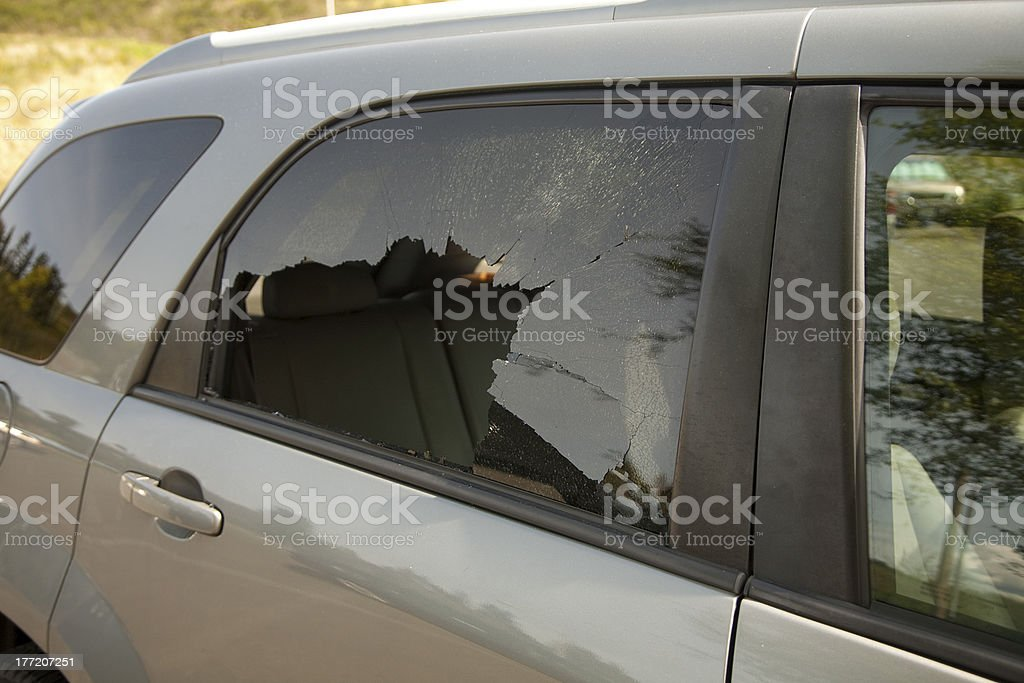 Vehicle Break-in royalty-free stock photo