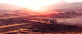 Vehicle driving on planetary surface