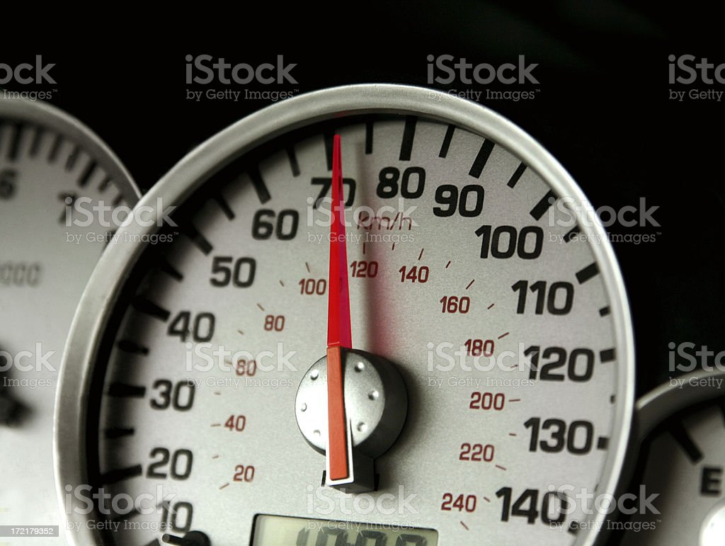 Vehicle Gauge -- Speedometer royalty-free stock photo