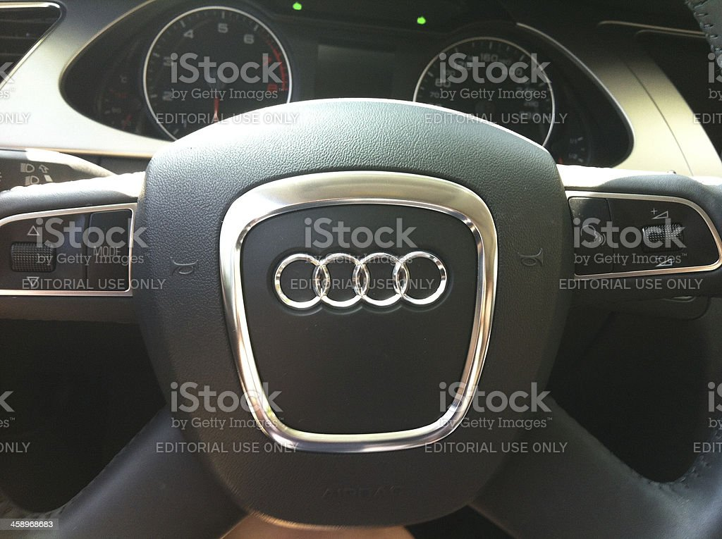 Vehicle interior of Audi A4 royalty-free stock photo