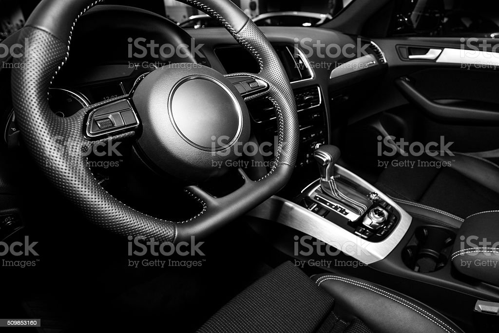 Vehicle interior stock photo