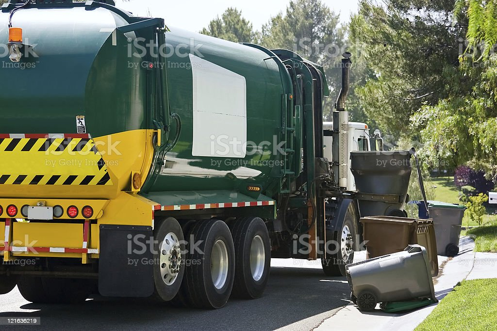 Vehicle Pick Up Trash stock photo