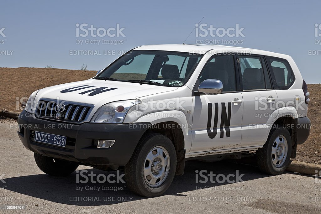 UN Vehicle stock photo