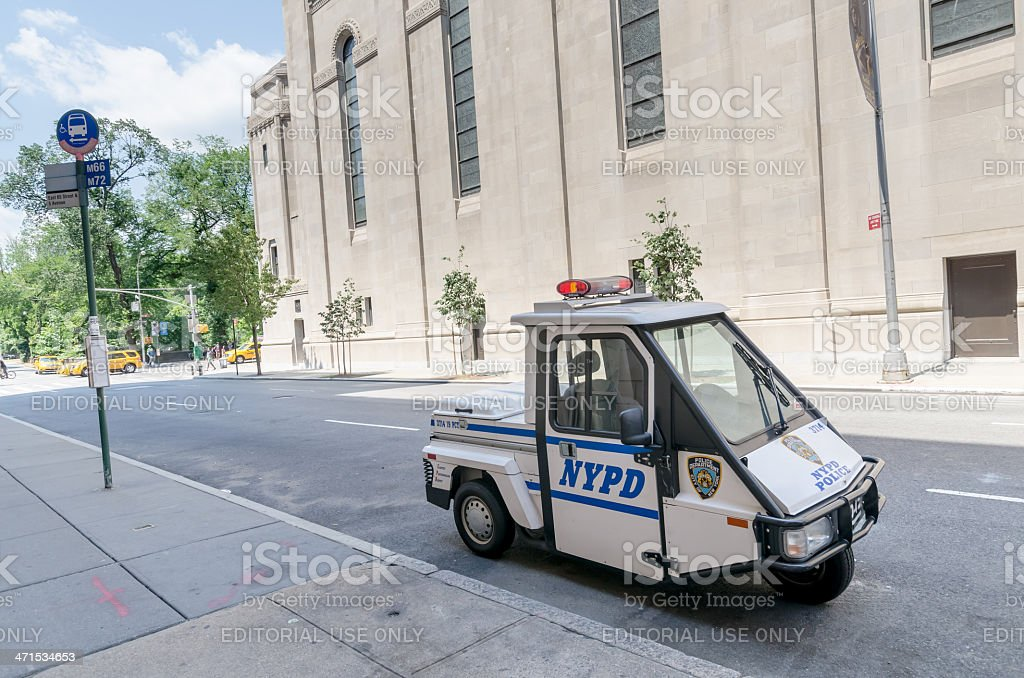 NYPD vehicle royalty-free stock photo