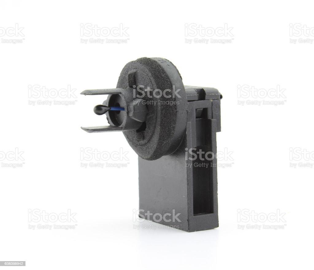 Vehicle temperature sensor, isolated stock photo