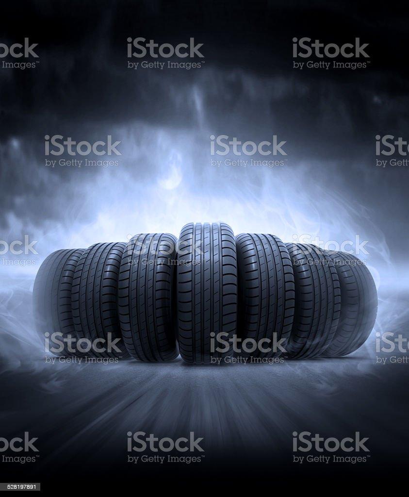 vehicle tires stock photo