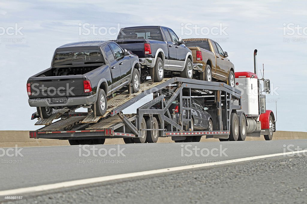 Vehicle Transporter stock photo