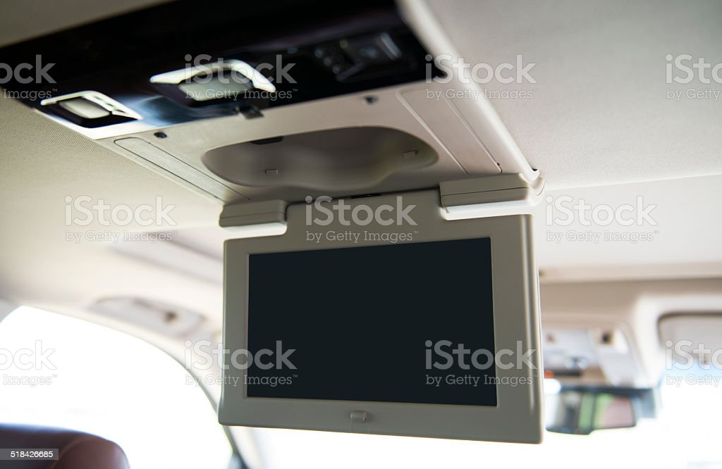 Vehicle TV screen stock photo