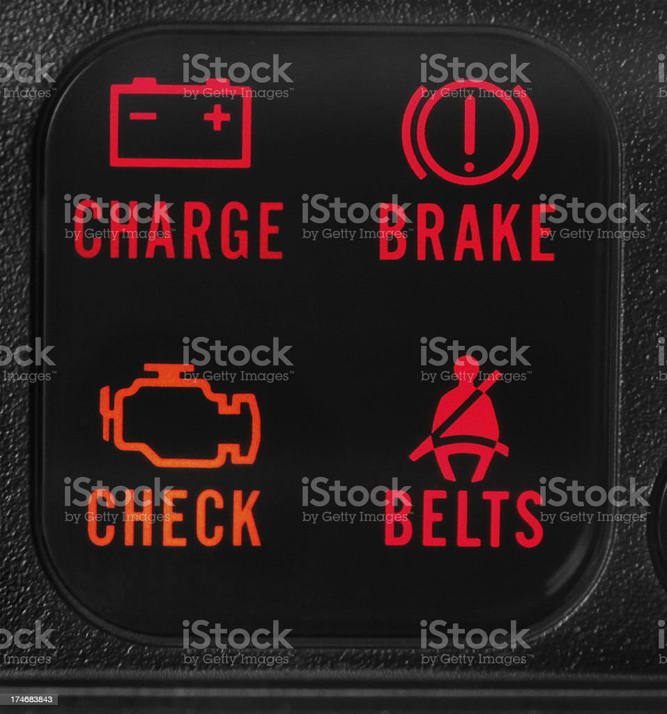 Vehicle Warning Lights royalty-free stock photo