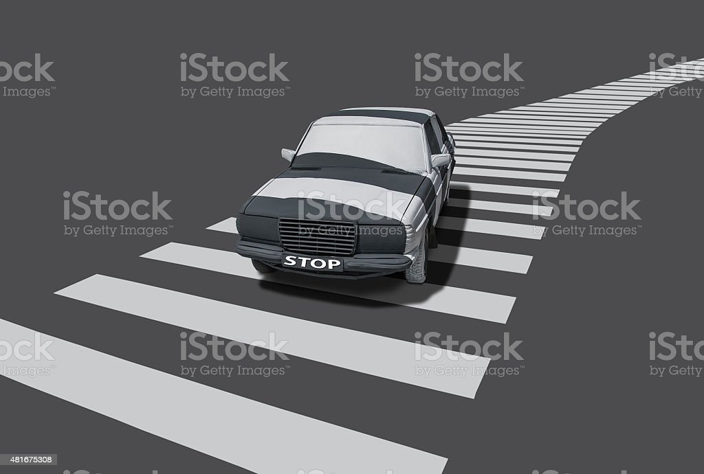 Vehicle with stripes stock photo