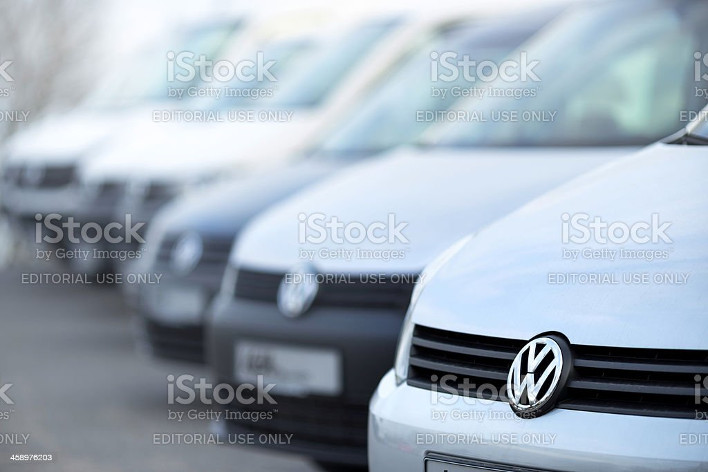 VW vehicles in a row royalty-free stock photo