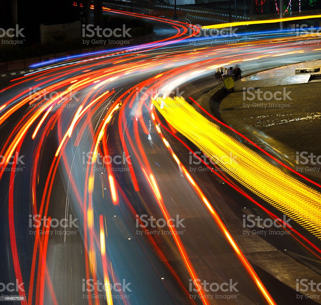 Vehicles Light Trails stock photo