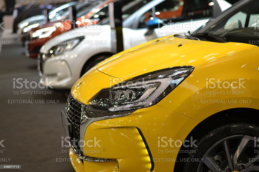 DS vehicles on the motor show stock photo