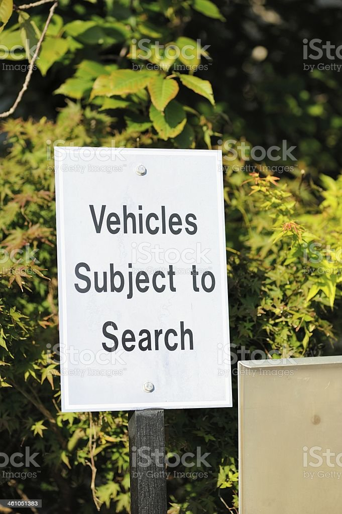 Vehicles subject to search royalty-free stock photo