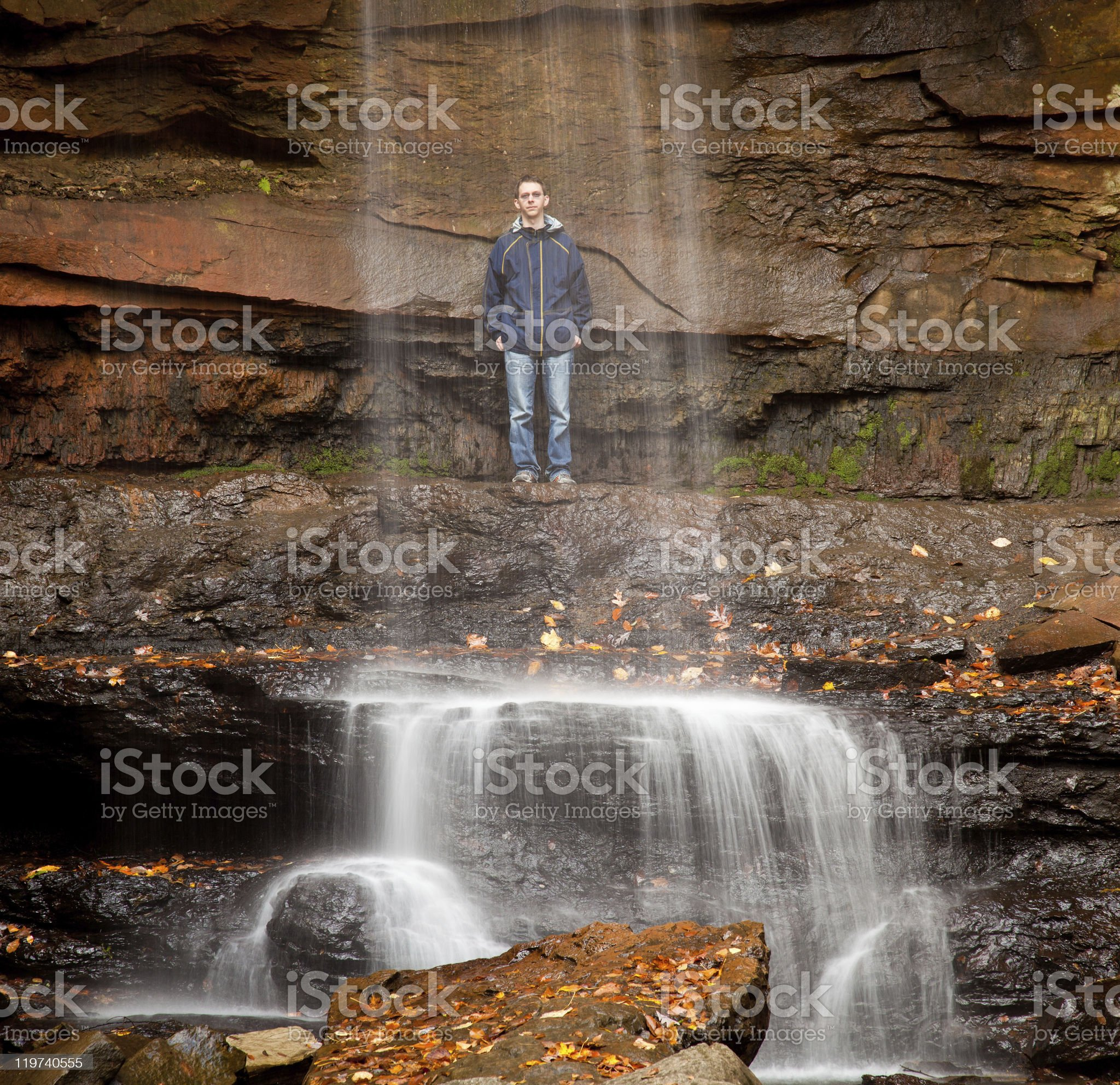 Veil of water over Cucumber Falls royalty-free stock photo